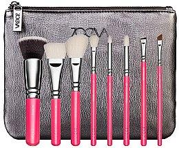 Kup Zestaw pędzli do makijażu w kosmetyczce - ZOEVA Pink Elements Classic Set (8 brushes + clutch)