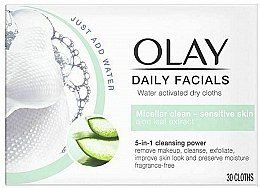 Kup Chusteczki micelarne do demakijażu skóry wrażliwej - Olay Cleanse Daily Facials Cloths Sensitive