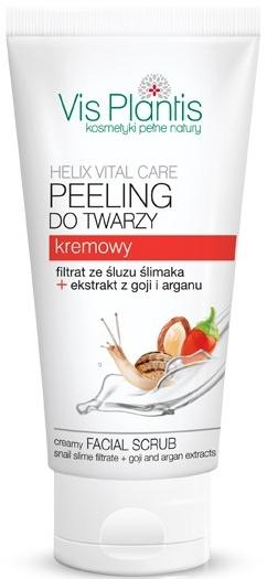 Peeling kremowy do twarzy Filtrat ze śluzu ślimaka, jagody goji + argan - Vis Plantis Helix Vital Care