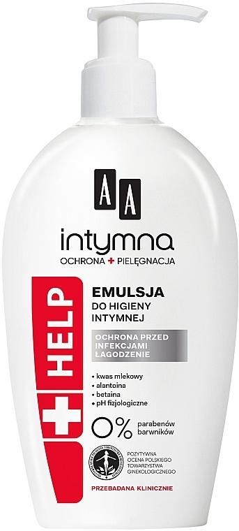 Emulsja do higieny intymnej Ochrona przed infekcjami i łagodzenie - AA Intymna +Help