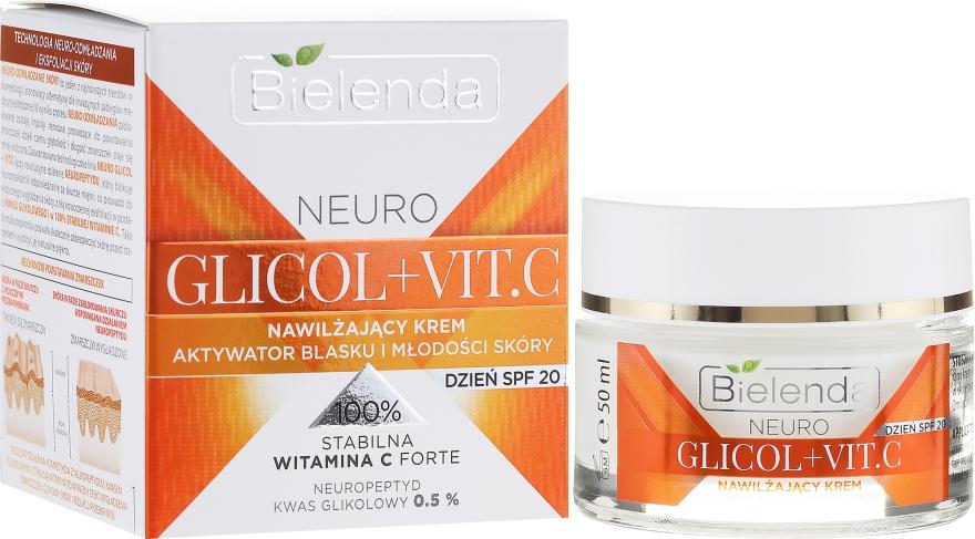 Nawilżający krem z witaminą C na dzień SPF 20 - Bielenda Neuro Glicol + Vit.C