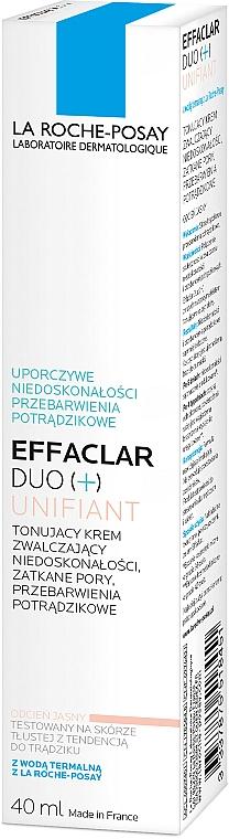 Tonujący krem zwalczający niedoskonałości - La Roche-Posay Effaclar Duo + Unifiant — фото N6
