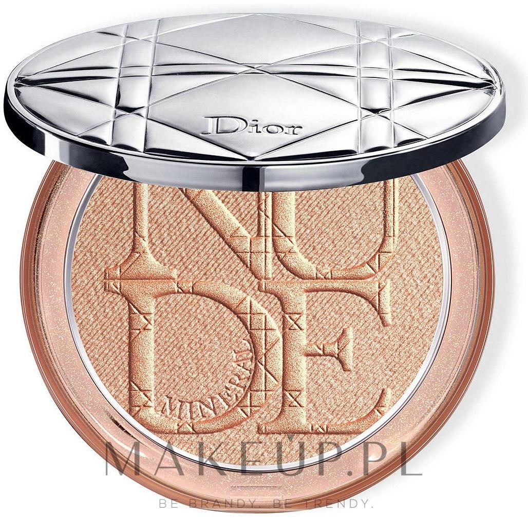 Mineralny rozświetlacz w pudrze do twarzy - Dior Diorskin Mineral Nude Luminizer Powder — фото 01 - Nude Glow