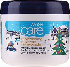 Kup Nawilżający krem do twarzy i ciała z olejem z awokado - Avon Care Cristmas Collection Replenishing Moisture With Avocado Multipurpose Cream For Face, Hands And Body
