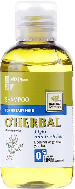 Szampon z ekstraktem z mięty do włosów przetłuszczających się - O'Herbal