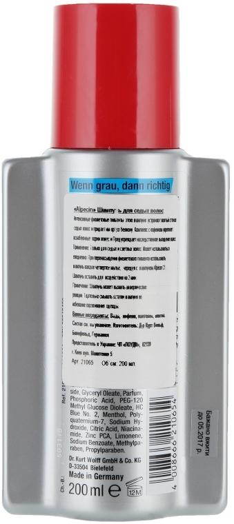 Szampon do włosów siwych - Alpecin Power Grau Shampoo — фото N2