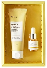 Kup Zestaw - iUNIK Propolis Edition Skin Care Set (mask/60ml + ser/15ml)