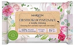 Kup Oczyszczające chusteczki z wodą różaną, 15szt. - Marion