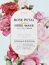 Kup Zmiękczająca maska na pięty - Petitfee&Koelf Rose Petal Satin Heel Mask