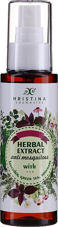 Spray na komary z lawendą, zieloną herbatą i ekstraktem z rozmarynu - Hristina Cosmetics Herbal Extract Anti Mosquitoes Spray — фото N1