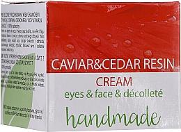 Kup Krem pod oczy do twarzy i dekoltu z ekstraktem z kawioru i żywicą z drzewa cedrowego - Hristina Cosmetics Handmade Caviar & Cedar Resin Cream