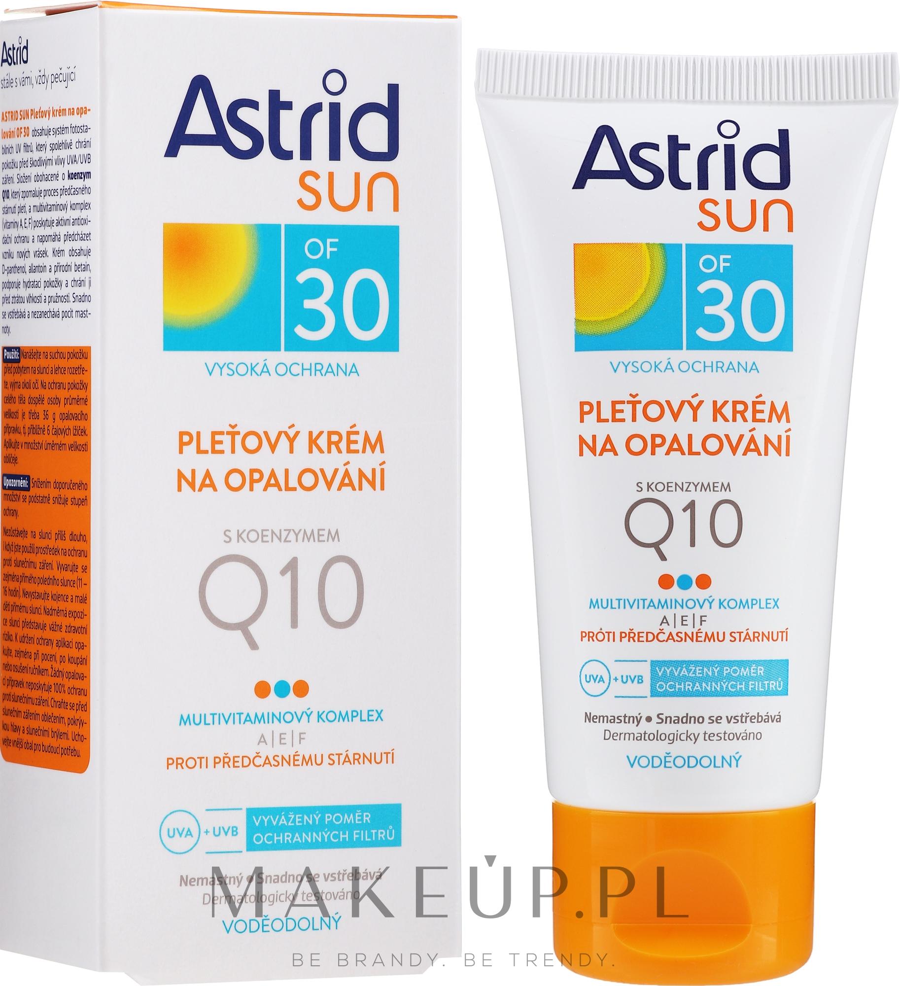 Krem przeciwsłoneczny do twarzy z koenzymem Q10 SPF 30 - Astrid Sun Protecting Face Cream — фото 50 ml