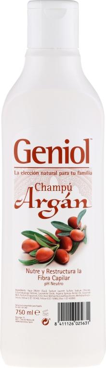 Odbudowujący szampon do włosów suchych i zniszczonych - Geniol Argan Shampoo — фото N1