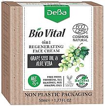 Kup PRZECENA! Rewitalizujący krem do twarzy Olej z pestek winogron i aloes - DeBa Bio Vital Regenerating Face Cream 4in1 *