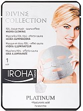 Kup Nawilżająca maska rozświetlająca do twarzy Platyna i kwas hialuronowy - Iroha Nature Platinum + Hyaluronic Acid Hydra Glowing Face Mask