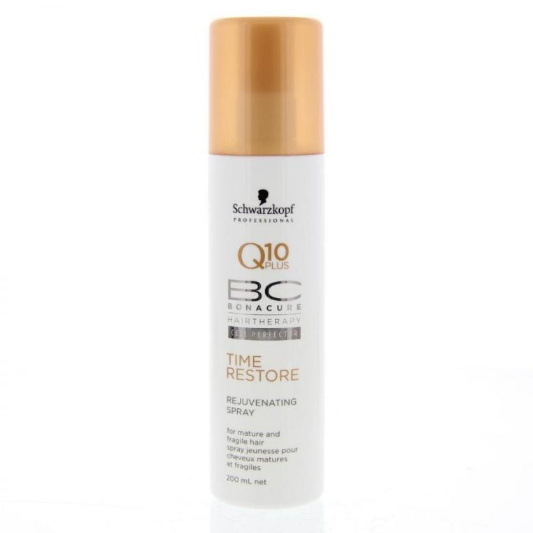 Satynowy spray odmładzający do włosów dojrzałych - Schwarzkopf Professional Q10 Plus Bonacure Rejuvenating Spray