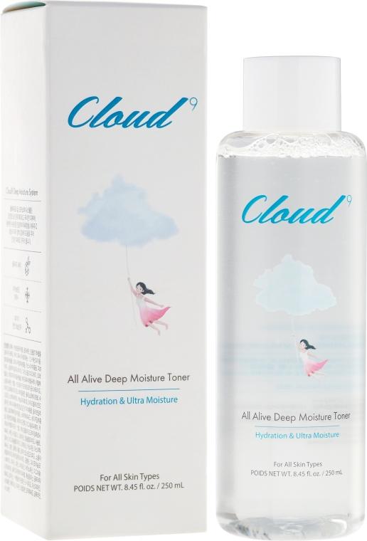 Silnie nawilżający tonik do twarzy - Cloud9 All Alive Deep Moisture Toner