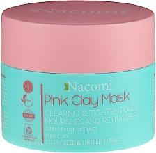 Kup Oczyszczająca maseczka z glinką różową zwężająca pory - Nacomi Vegan