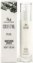 Kup PRZECENA! Perłowy krem wybielający do twarzy na noc - SM Collection Crystal Pearl Night Cream *