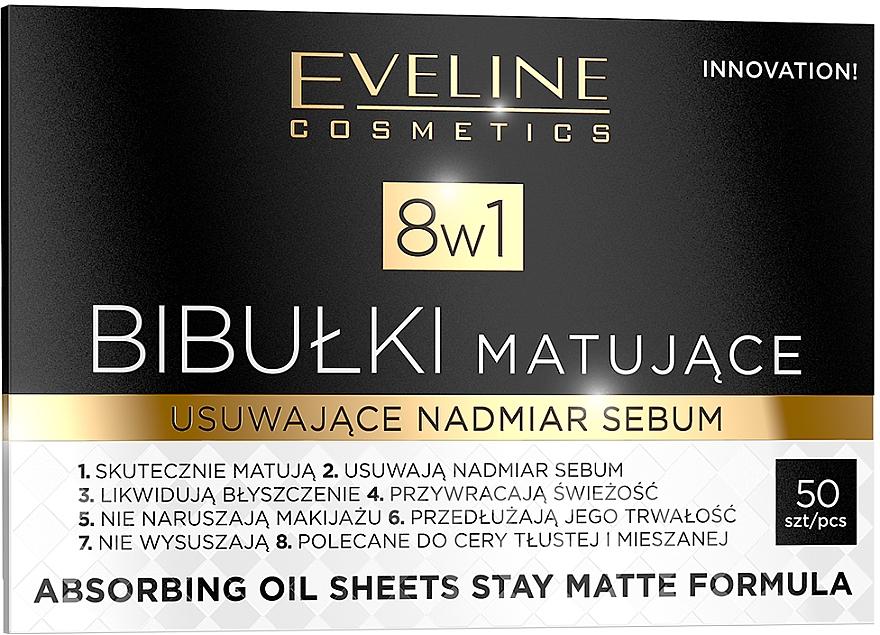 Bibułki matujące usuwające nadmiar sebum 8 w 1 - Eveline Cosmetics