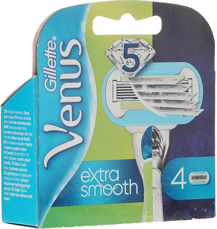 Wymienne wkłady do maszynki, 4 szt. - Gillette Venus Extra Smooth