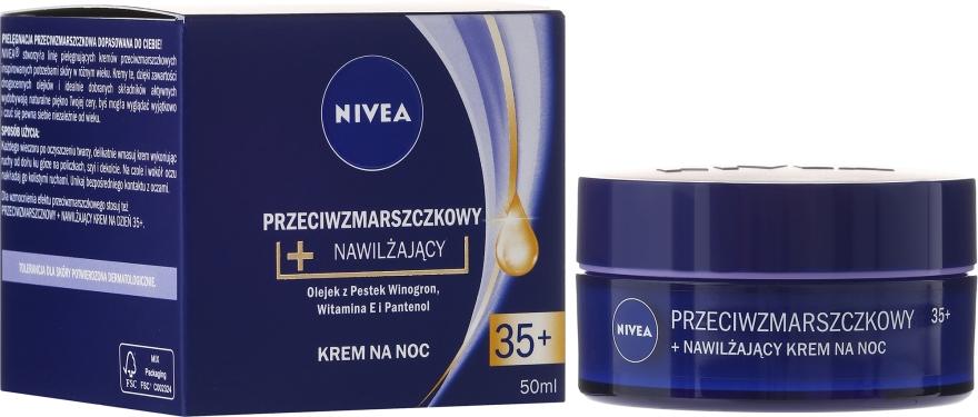 Przeciwzmarszczkowy krem nawilżający do twarzy na noc 35+ - Nivea Anti-Wrinkle Moisture Night Cream