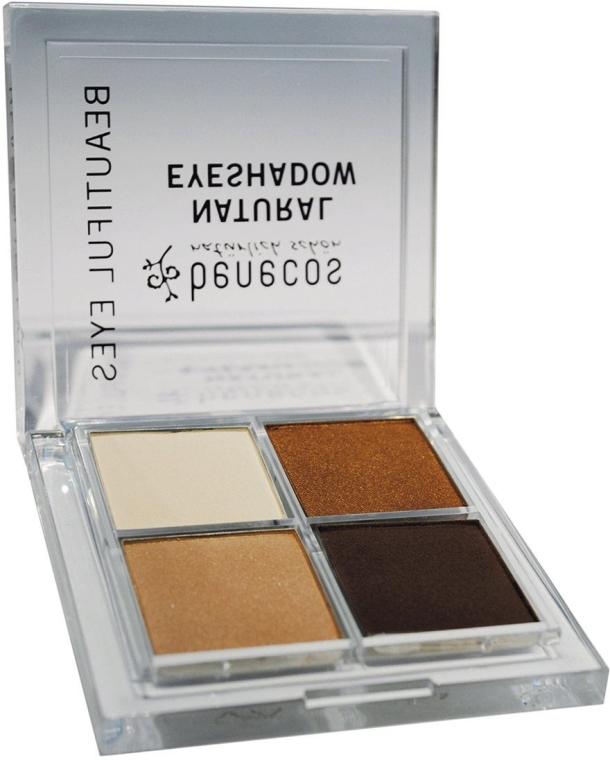 Paletka cieni do powiek - Benecos Natural Quattro Eyeshadow