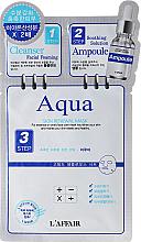 Kup PRZECENA! 3-etapowa maska nawilżająca na tkaninie do twarzy - Rainbow L'Affair Aqua 3-Step Skin Renewal Mask *