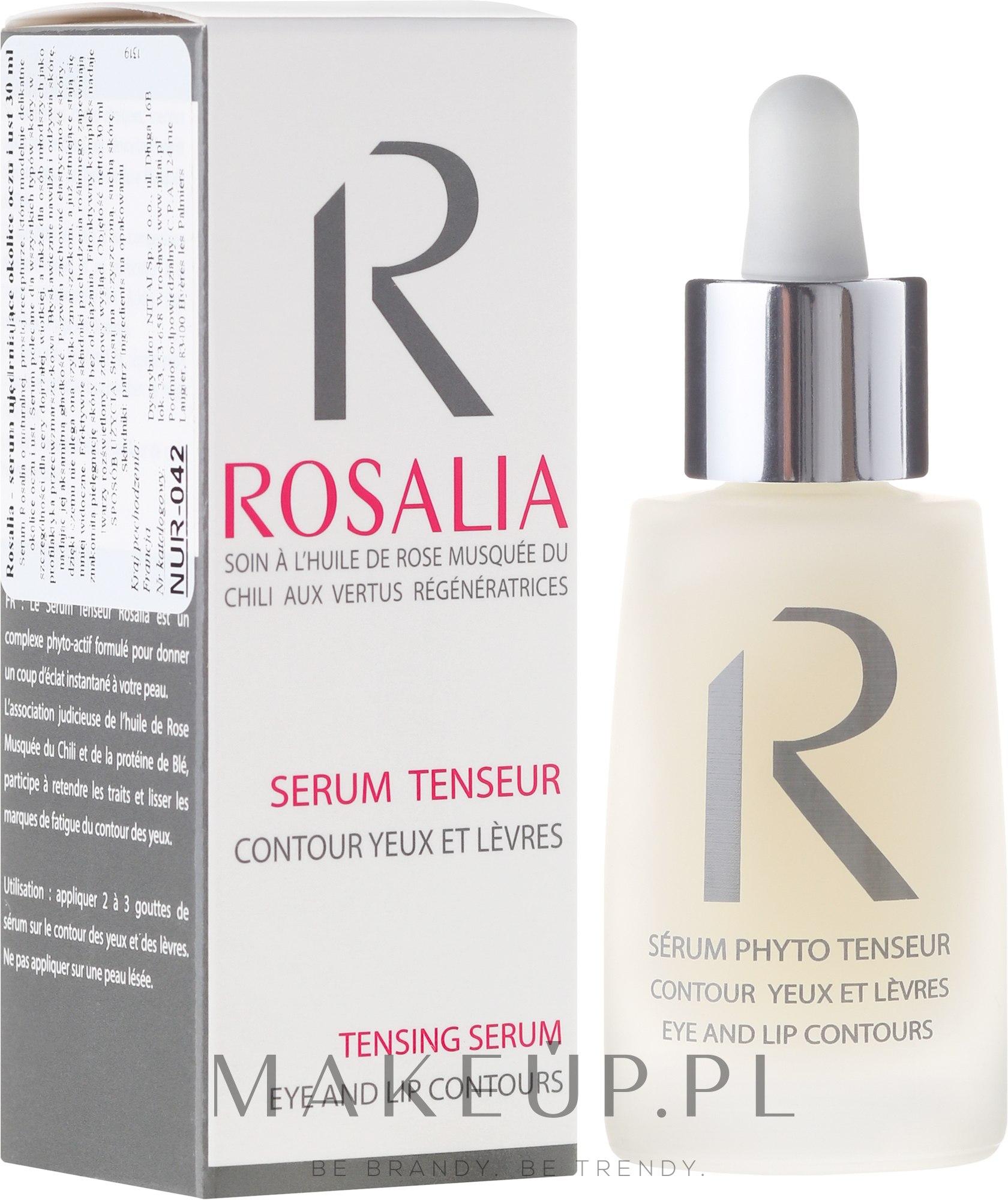 Ujędrniające serum do okolic oczu i ust - Naturado Rosalia Serum Eye And Lip Contours — фото 30 ml