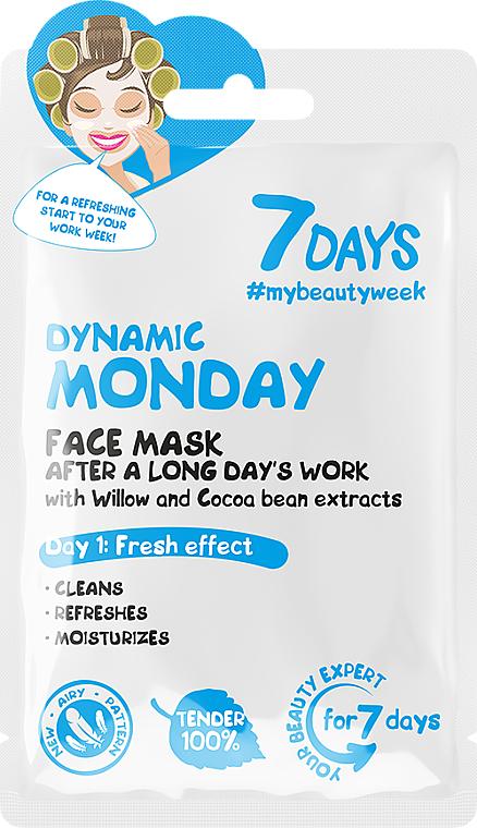 Odświeżająca maseczka do twarzy - 7 Days Dynamic Monday — фото N1