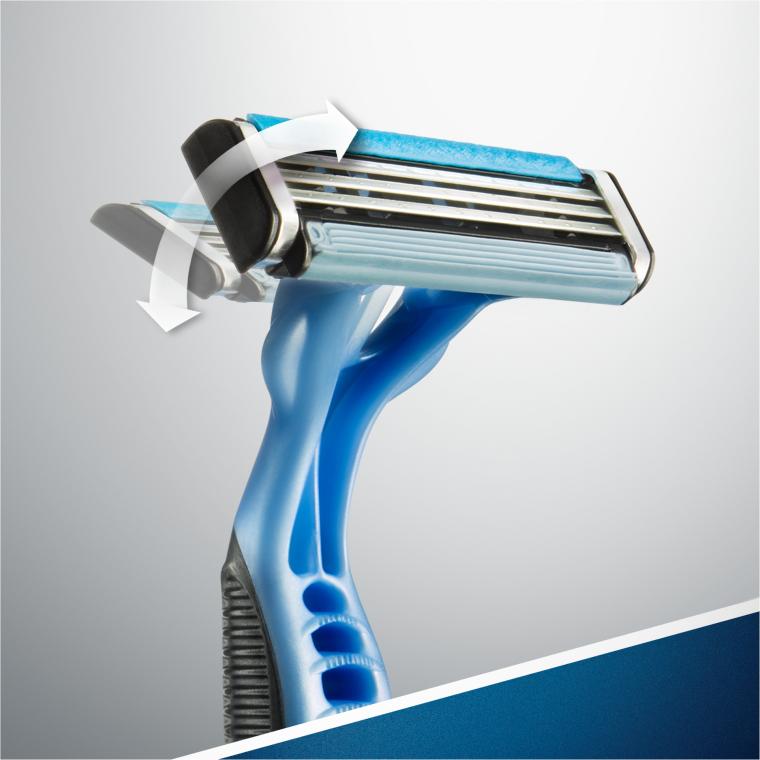 Jednorazowe maszynki do golenia, 6+2 szt. - Gillette Blue 3 — фото N6
