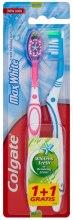 Kup Wybielająca szczoteczka do zębów, średnia twardość, błękitna + różowa - Colgate Max White Medium Polishing Star