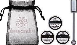 Kup Zestaw (gel 5 ml + gel 5 ml + gel 5 ml + magnet + bag) - Alessandro International Cat Eye Set