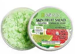 Kup Peeling do twarzy i ciała Grejpfrut, limonka i mięta - Nature of Agiva Roses Body Fruit Salad Nourishing Sugar Scrub