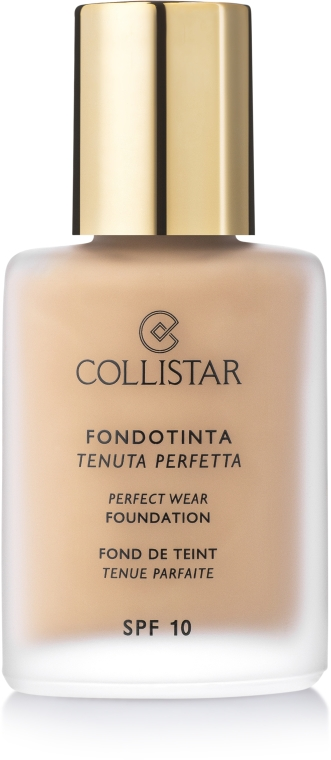 Podkład w kremie SPF 10 - Collistar Perfect Wear Foundation