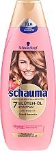 Szampon odbudowujący z esencją 7 kwiatów do włosów suchych i osłabionych - Schwarzkopf Schauma 7 Blossom Oil Shampoo — фото N1