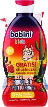 Kup Zestaw - Bobini Kids Set (gel/shmp/330ml + wipes/15pcs)