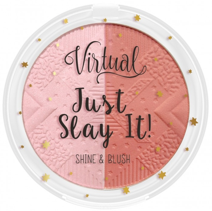 Rozświetlacz i róż do policzków - Virtual Just Slay It! Shine & Blush