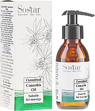 Kup Olejek do masażu z ekstraktem z konopi - Sostar Cannabidiol Oil Cannabis Extract