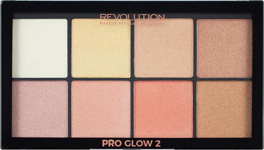 Paletka rozświetlaczy do twarzy - Makeup Revolution Pro Glow 2 — фото N2