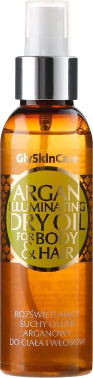 Rozświetlający suchy olejek arganowy do ciała i włosów - GlySkinCare Argan Iluminating Dry Oil For Body & Hair