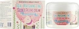 Kup Rozjaśniający kremowy peeling do twarzy - Elizavecca Face Care Milky Piggy Real Whitening Time Secret Pilling Cream