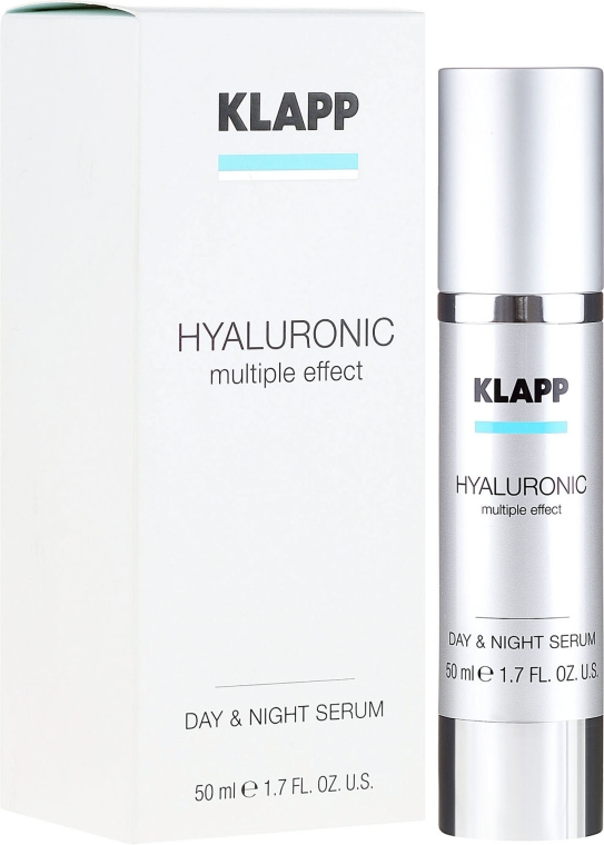 Hialuronowe serum na dzień i noc - Klapp Hyaluronic Multiple Effect Day & Night Serum — фото N1