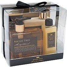 Kup Zestaw luksusowych kosmetyków - Beeing True (sh/gel 250 ml + body/balm 250 ml + bath/f 100 ml + peel 100 ml)