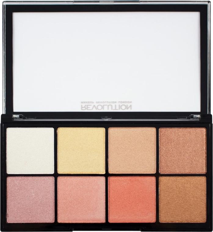 Paletka rozświetlaczy do twarzy - Makeup Revolution Pro Glow 2