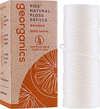 Kup PRZECENA! Nić dentystyczna, 2x50 m - Georganics Natural Sweet Orange Dental Floss (wymienny wkład) *