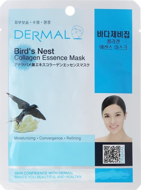 Kolagenowa esencjonalna maseczka w płachcie do twarzy Ekstrakt z jaskółczych gniazd - Dermal Bird's Nest Collagen Essence Mask — фото N1