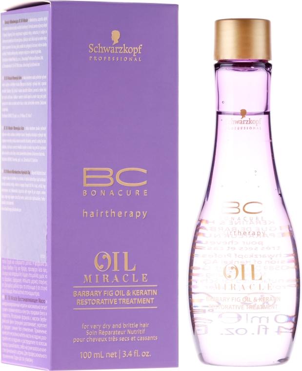 Odbudowujący olejek do włosów Olej z opuncji figowej i keratyna - Schwarzkopf Professional BC Bonacure Oil Miracle Barbary Fig Oil & Keratin — фото N1