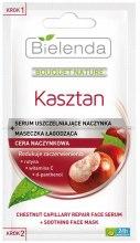 Kup Serum uszczelniające naczynka + maseczka łagodząca do cery naczynkowej - Bielenda Bouquet Nature Kasztan