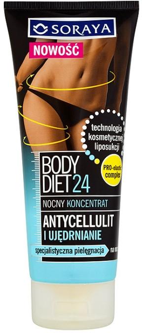 Antycellulitowy nocny koncentrat ujędrniający do ciała - Soraya Body Diet 24 Cellulite And Firming Night Concentrate — фото N1